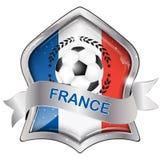 France football elegant shiny icon Royalty Free Stock Photography