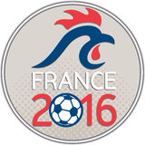 France 2016 Football  Europe Championships Circle Royalty Free Stock Image