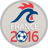 France 2016 Football Europe Championships Circle royalty free illustration