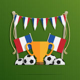 France football flags Royalty Free Stock Photos