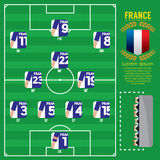 France Football Team Strategy Formation. Stock Photos