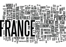 France At The Forefront Of Europe Text Background  Word Cloud Concept Royalty Free Stock Photos
