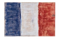France French flag on wood background. Royalty Free Stock Photo