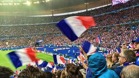 France French Football Supporters Fans Stadium Stock Image