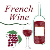 France French Indicates Wine Tasting And Alcoholic Royalty Free Stock Images
