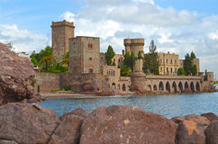 Castle Napoule. France, French riviera, Mandelieu la Napoule, seaside resort, mimosa capital Royalty Free Stock Photography