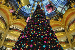 france galeries lafayette paris Arkivbild