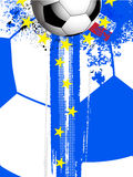 France 2016 games background. Football Soccer European Championship Background with Football France Flag with Grunge Effect and Yellow Stars Stock Photo