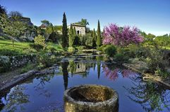France garden. Beautiful garden in small village in France Stock Image