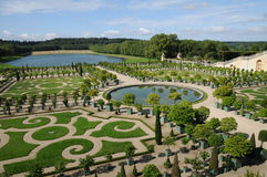 France, garden of the Versailles palace Orangery Stock Image