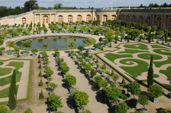 France, garden of the Versailles palace Orangery Royalty Free Stock Photos