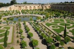 France, garden of the Versailles palace Orangery Royalty Free Stock Photos