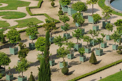France, garden of the Versailles palace Orangery Royalty Free Stock Image