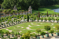 France, garden of the Versailles palace Orangery Stock Images