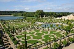 France, garden of the Versailles palace Orangery Stock Photos