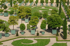 France, garden of the Versailles palace Orangery Royalty Free Stock Images