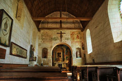 France, Gemages Saint Martin church in Normandie Royalty Free Stock Images