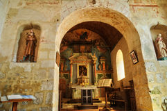 France, Gemages Saint Martin church in Normandie Royalty Free Stock Photo