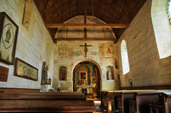 France, Gemages Saint Martin church in Normandie Stock Photos
