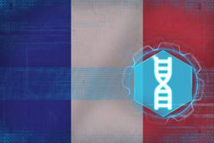 France gene engineering. DNA concept. Royalty Free Stock Photo