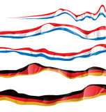 France and germany flag set Royalty Free Stock Photo
