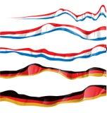 France and germany flag set. On white background Royalty Free Stock Photo