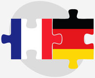 France and Germany Flags in puzzle Royalty Free Stock Photography