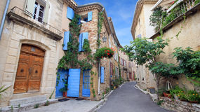 France - Gigondas. In a center of a village in Provence (South of France stock image