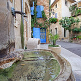 France - Gigondas. In a center of a village in Provence (South of France royalty free stock images
