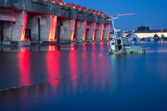 France, Gironde, Bordeaux, base sous sous marine, an early evening Royalty Free Stock Image