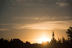 France, Gironde, Bordeaux, sunset over the city. Stock Image