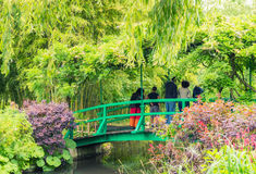 France Giverny Monet's garden on a spring day Stock Photo