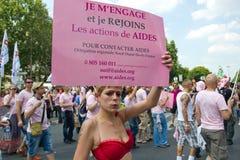 france glad paris stolthet 2010 Arkivfoto