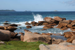 France, granite rocks in Tregastel Stock Images