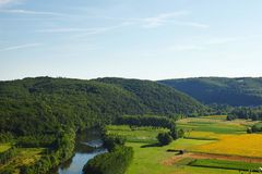France green field panorama Royalty Free Stock Photos