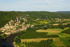 France green field panorama Royalty Free Stock Image