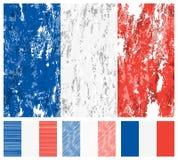 France grunge flag set. On a white background. Vector illustration Royalty Free Stock Image