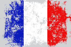 France grunge, old, scratched style flag Stock Image