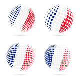 France halftone flag set patriotic vector design. Royalty Free Stock Photos