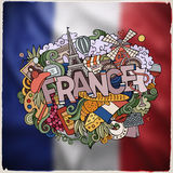 France hand lettering and doodles elements emblem Royalty Free Stock Photography