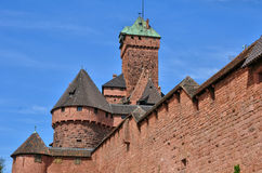France; Haut Koenigsbourg castle in Bas Rhin Royalty Free Stock Photography