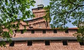 France; Haut Koenigsbourg castle in Bas Rhin Royalty Free Stock Images