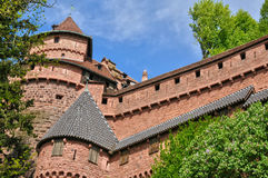 France; Haut Koenigsbourg castle in Bas Rhin Stock Images