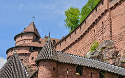 France; Haut Koenigsbourg castle in Bas Rhin Stock Image