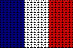 France heart flag. An illustration of the French flag Royalty Free Illustration