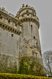 France, historical castle of Pierrefonds in Picardie Stock Images