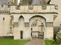 France, historical castle of Pierrefonds in Picardie Stock Photography