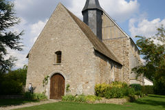 France, the historical church of Mondreville Royalty Free Stock Image