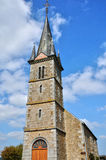 France, historical church of Notre Dame du Rocher Stock Photography