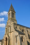France, historical church of Port en Bessin Huppain in Normandie Royalty Free Stock Images